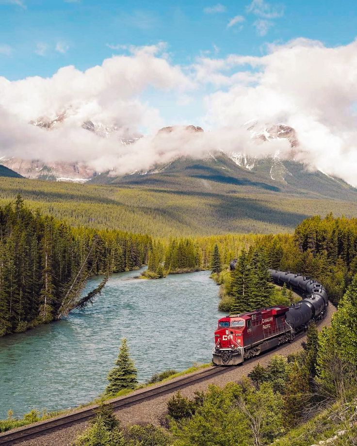 ***Canadian Pacific freight train (Banff, Alberta) by Stevin Tuchiwsky (@stevint) on Instagram