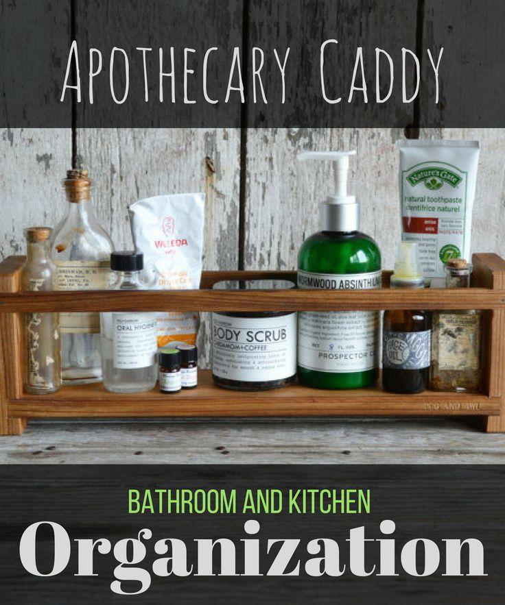 Apothecary Caddy, Peg and Awl, Spice Rack, Bathroom Organization, Kitchen Organization, Bathroom Shelf, Spice Cabinet, Essential Oils #ad #organization #kitchen #bathroom