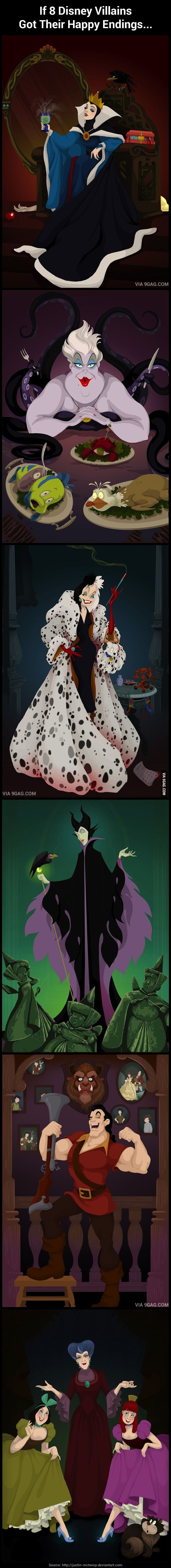If Disney Villains Got Their Happy Endings (I know...it's a little morbid, but such can be my humor.)