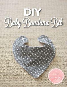 Use this free pattern and step-by-step guide to make an adorable baby bandana bib! | DIY Baby Bandana Bib | The Wine Country Mama | www.thewinecountrymama.com