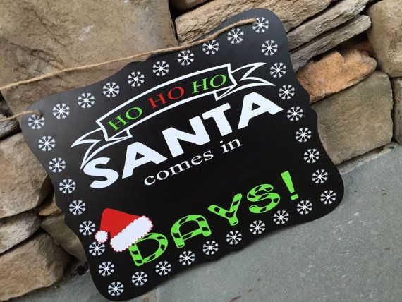 Days until santa comes countdown to christmas by TweetHeartDecor