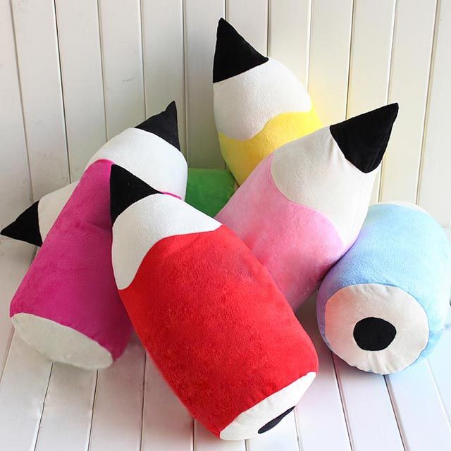 Free shipping New Cute Lovely Colored pencil pillow cushion plush toy Cool  lovers pillow child birthday novel gift 50cm US $21.99