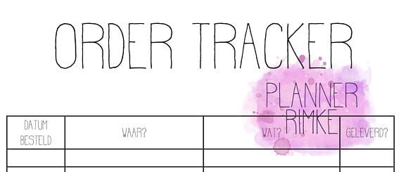 Order Tracker A5 - Dutch Language