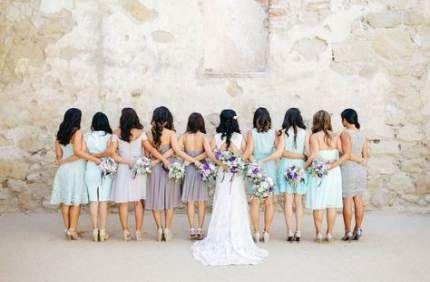 Large bridal party photos group shots bridesmaid dresses 46 Super Ideas