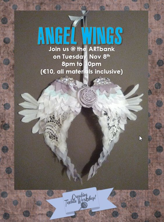 Vintage lace angel wings!