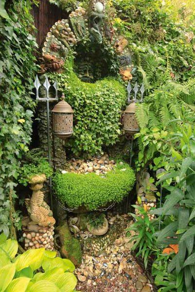 The Poseidon Fountain in The Magic Garden, Wolverhampton England -
