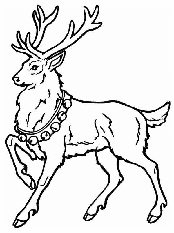 Deer Santa Claus Deer Coloring Page Deer Coloring Pages Animal Coloring Pages Coloring Pages