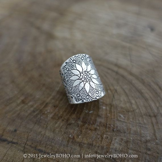 BOHO 925 Silver Ring-Gypsy Hippie Ring,Bohemian style,Statement Ring R093…