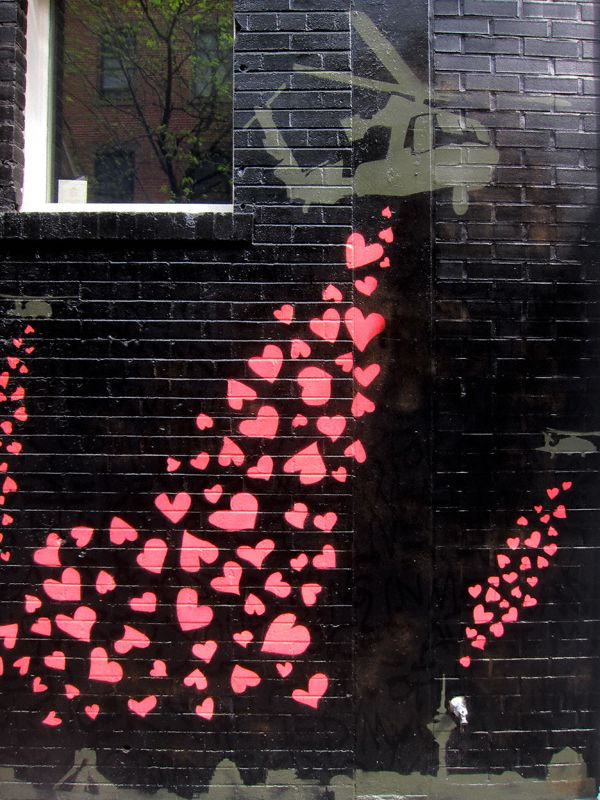 From Nolita With Love,  NYDrop Heart, Street Artists, Pretty Heart, Droppin Bombs, Nolita, Soho Street, Streetart