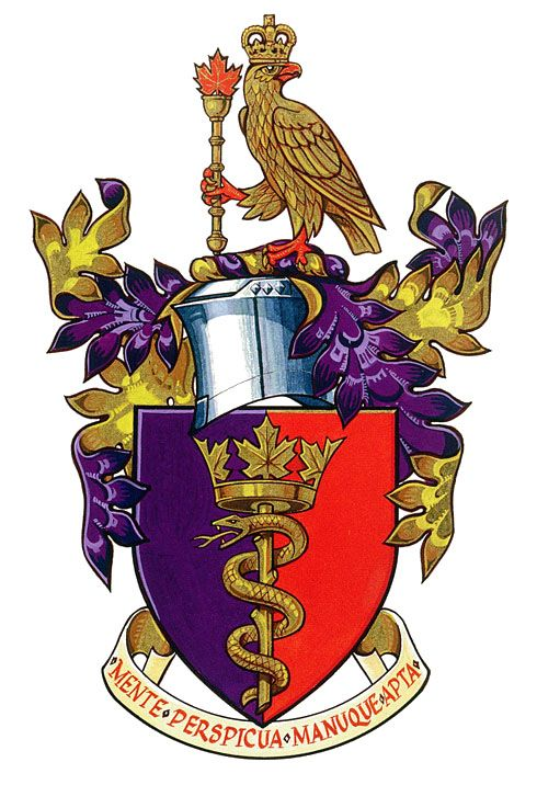 Arms of the Royal College of Physicians and Surgeons of Canada