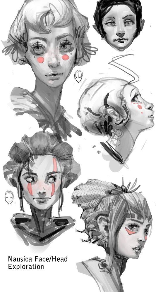 #sketch #woman #face