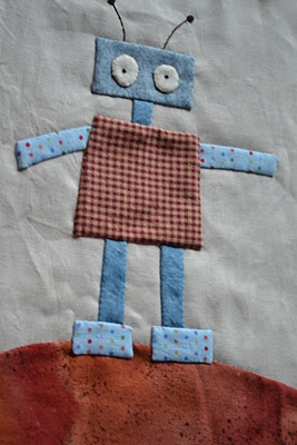 I love this little robot by Rosie's Farm. She has a wonderful blog -- go visit the farm!