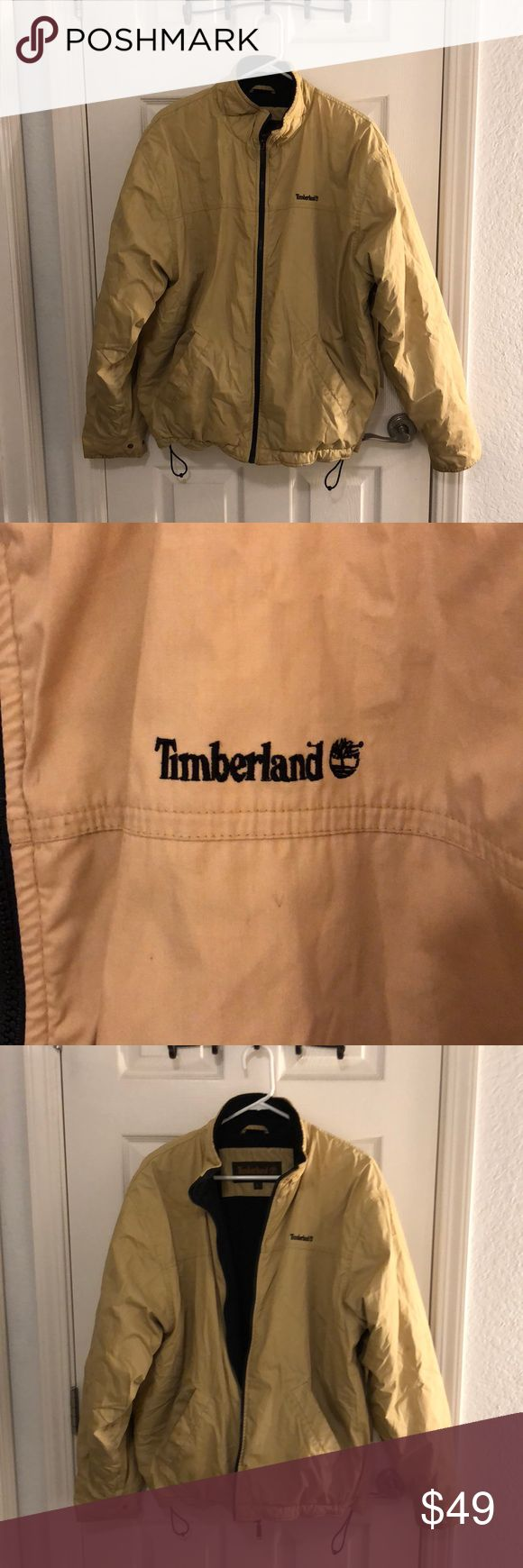 Timberland Coat This is a decent condition men's Timberland coat. The brand speaks for itself. Timberland is a top shelf brand and you gotta sport this good looking jacket. There are some dirt marks around the wrists and on some places around the jacket as shown in the photos. A good dry cleaning may get that out but I don't have the time. Make an offer :-) Timberland Jackets & Coats