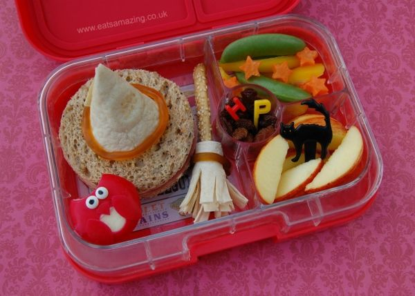 Harry Potter book themed food - fun school lunch idea - my boys loved this!
