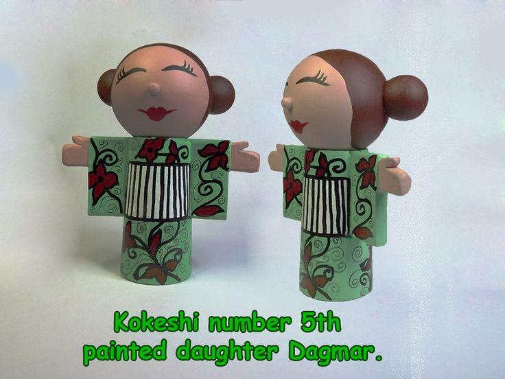Painted daughter Dagmar .