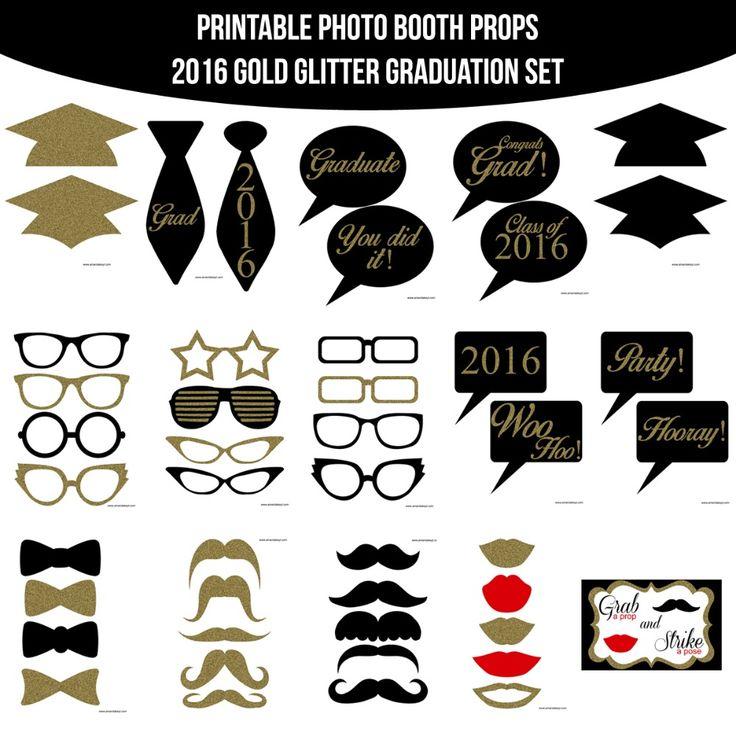 Instant Download Grad Gold Glitter 2016 Printable Photo
