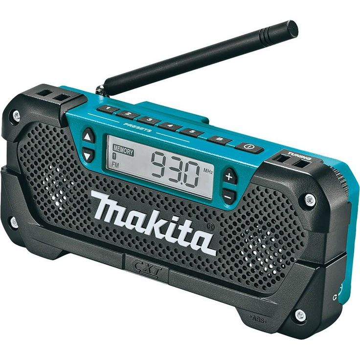Makita 12-Volt MAX CXT Lithium-Ion Cordless MP3 Compatible Compact Job Site Radio (Tool Only)