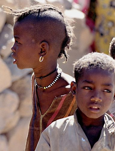 Jeunes Tchadiens à Yebibou (Tchad) by Roger Blum