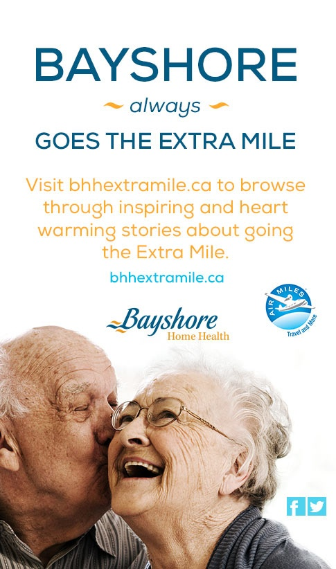 Share when you went the Extra Mile for a chance to win 25,000 AIR MILES® reward miles with Bayshore Home Health.