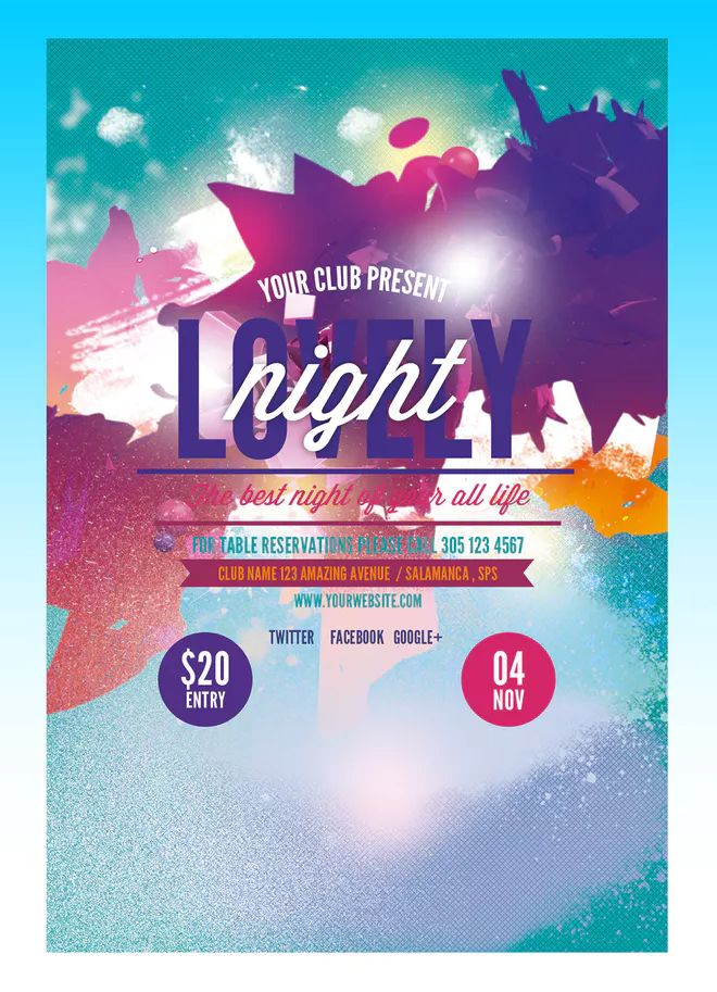 Lovely Dance Flyer Poster Template PSD  Download | Flyer