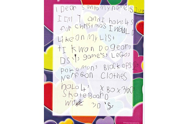 The Langley Advance asked youngsters to share their letters to Santa Claus, and here are some of those we received.