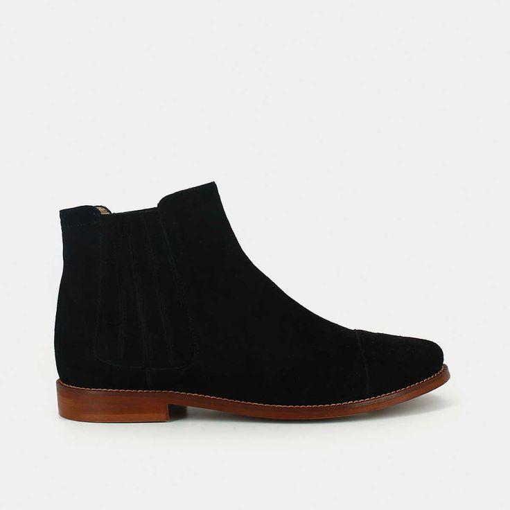 Boots en velours noir