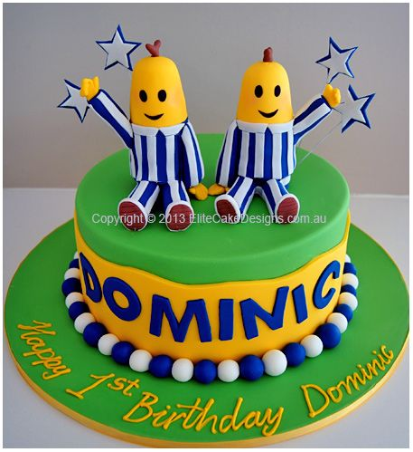 Bananas in Pyjamas birthday cake by elite cake designs