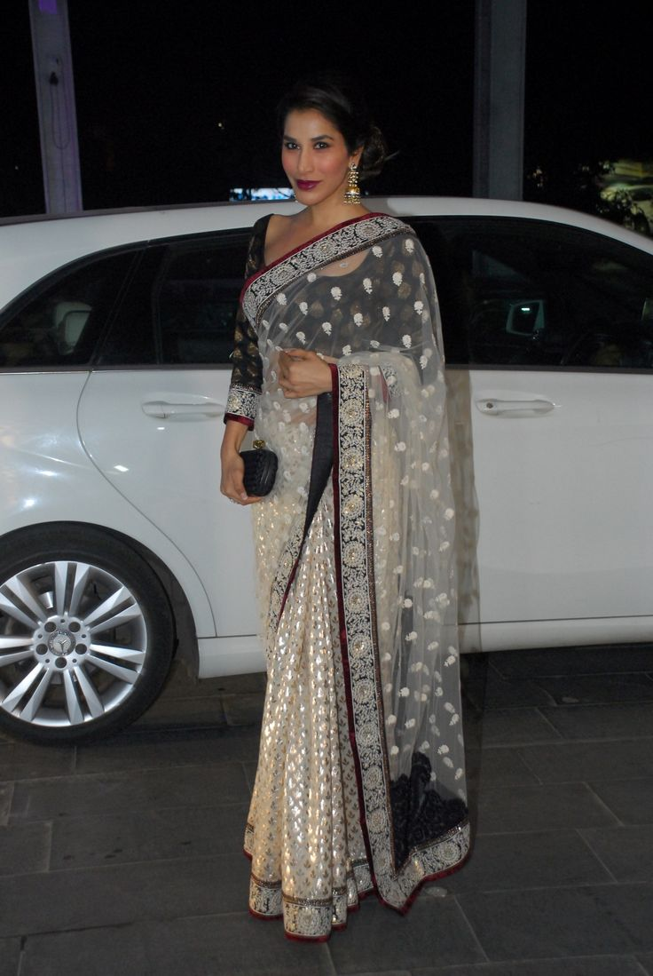 Ms Elegance @Sophie_Choudry at Shirin Morani & Uday Singh Wedding Reception, Dec 21, 14 | boutiquesareeblouse.com