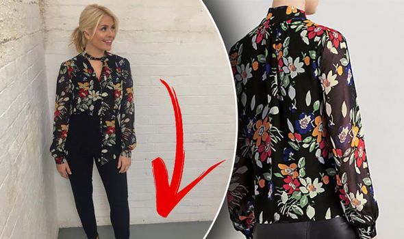 Holly Willoughby fans go crazy for presenters floral blouse - but notice THIS by her feet