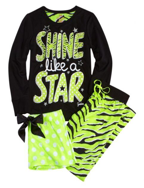 Shine Zebra 3 Piece Pajama Set | Girls Pajamas Clothes | Shop Justice