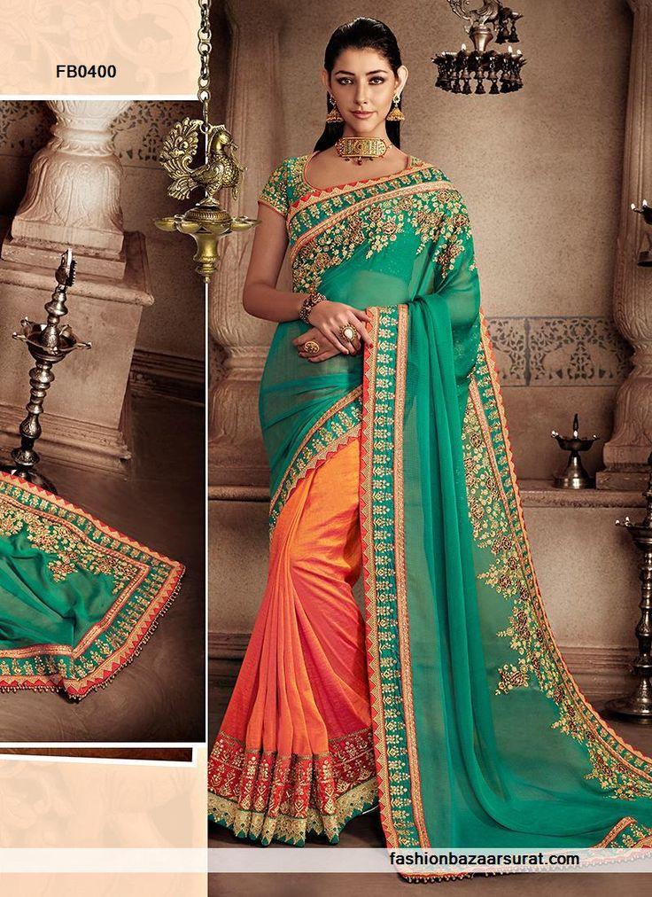 CHIFFON SAREES chiffon sarees Silk online india. Chiffon Sarees silk India chiffon sarees.chiffon sarees online.Silk Sarees Online Gilded Green Chiffon Designer Saree