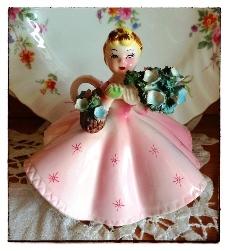 Flower Girl Baskets Toronto : Best images about vintage figurines on