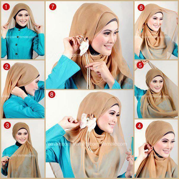 brown paris hijab