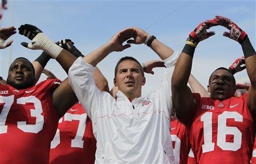 OHIO STATE FOOTBALL-Urban Meyer guided Ohio State to a 12-0 record last season. Go Buckeyes!