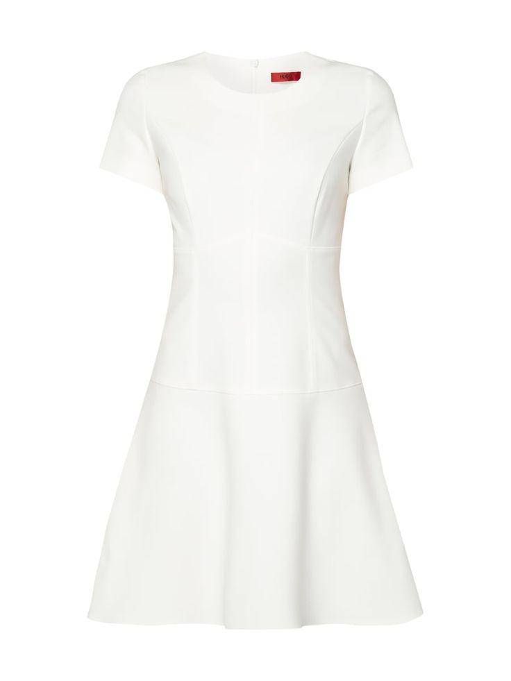 HUGO Kleid mit Teilungsnähten in Weiß online kaufen (9757462) ▷ P&C Online Shop