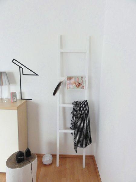 tolle+Dekoleiter+♥♥+weiß+od.+schwarz+lackiert+von+Ideenpurzelbäume++auf+DaWanda.com