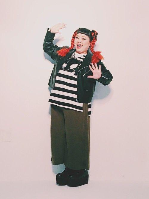 渡辺直美さんの「ポンチガウチョパンツ(PUNYUS)」を使ったコーディネート