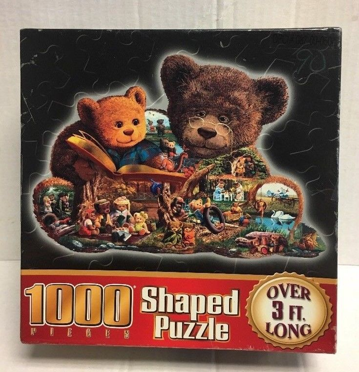 Bear in Mind Puzzle Bear Shaped 3ft Long 1000 Pieces NEW Teddy Bears Free Ship #NotApplicable