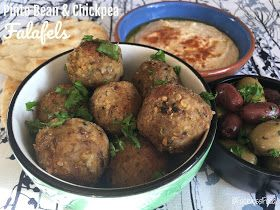 Pinto Bean & Chickpea Falafels   for #SumaBloggersNetwork. Recipe written by vegetarian foodie @facelessfood