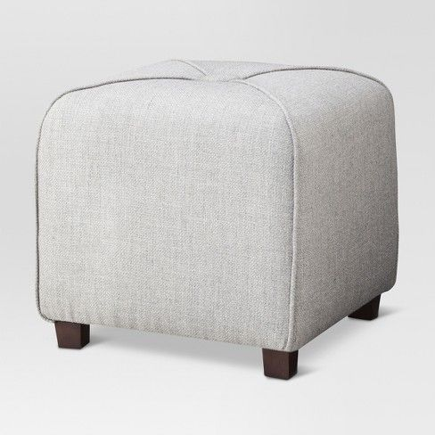 Ottoman Gray Threshold Ottoman Small Storage Ottoman Living Room Bench