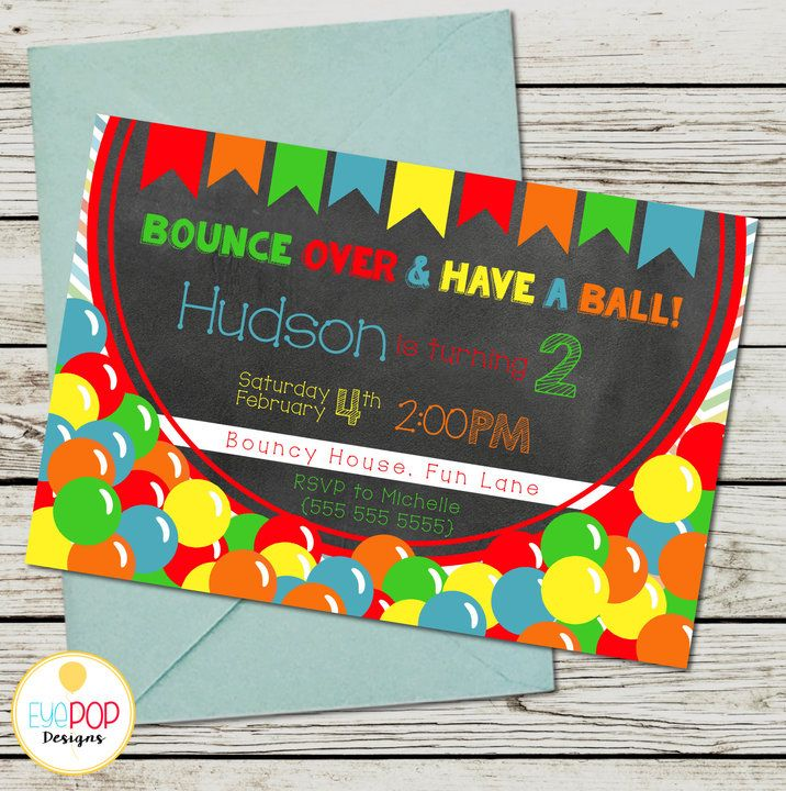 BOUNCE HOUSE Party Package, Jumping Birthday Party, Jump Party, Colourful, Chalkboard, Printable by EyePop Designs