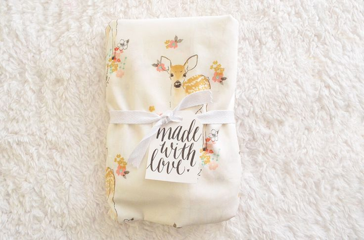 "Crib Sheet | Baby Girl Bedding | Coral Crib Sheet | Woodland Nursery | Deer Fawn | ""Chloe"" 