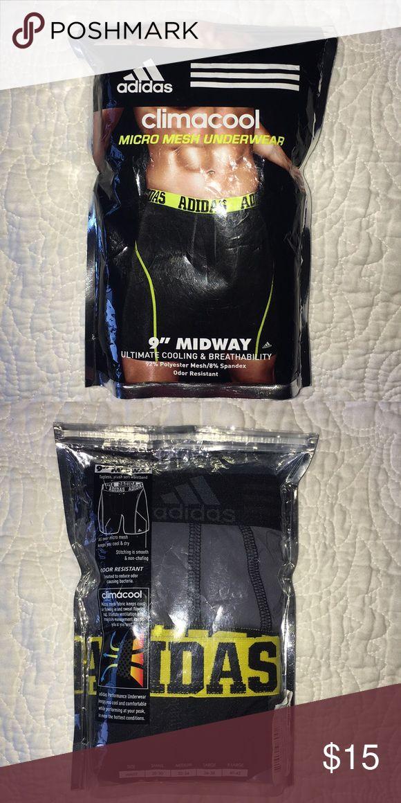 "Men's Underwear Adidas Boxer Briefs.Climacool Mesh Underwear 9"" Midway. Ultimate Cooling & Breathability. 92% Polyester, Mesh 8% Spandex. 2 Packs Jockey Underwear & Socks Boxer Briefs"