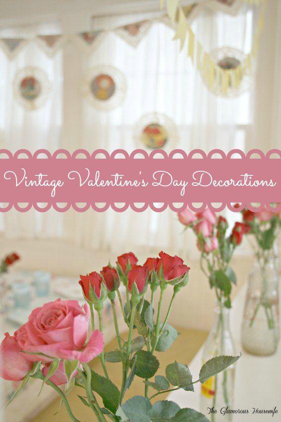 vintage valentine 39 s day decorations valentines shabby - Vintage Valentine Decorations