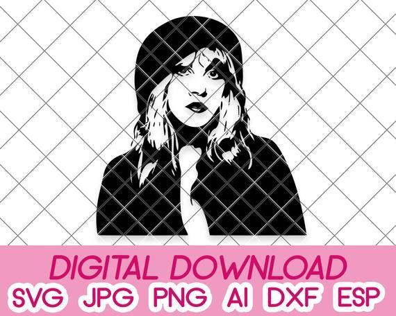 Stevie Nicks Digital Download Dxf Svg Pdf Jpeg Png Eps Etsy In 2020 Stevie Nicks Stevie Silhouette Designer Edition