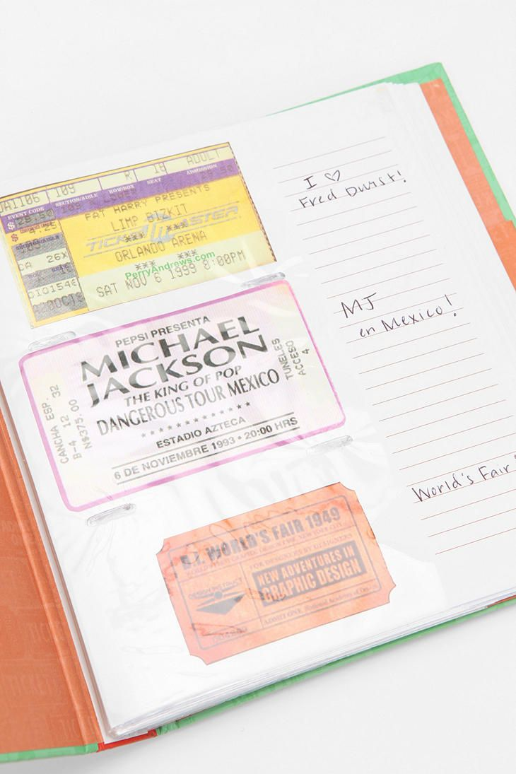 Ticket Stub Diary By Chronicle Books  $14.95