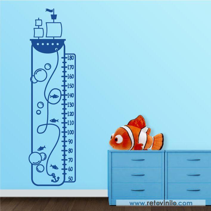 As 39 melhores imagens em decoracion no pinterest decalques de vinilos decorativo infantiles medidores el capitn del barco bonito diseo formado por elementos del mar para nuestro pequeos marineros fandeluxe Images