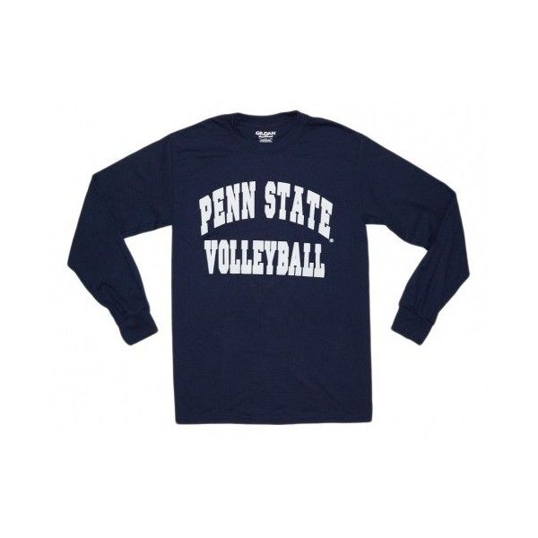 Penn State T-Shirt | Volleyball Long Sleeve T-Shirt ❤ liked on Polyvore featuring tops, t-shirts, long sleeve shirts, blue tee, t shirts, long sleeve tee and long sleeve t shirt