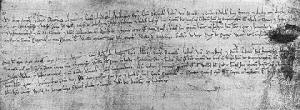 Market Charter for Birmingham from 1189. The area may not have been called the Bull Ring, but this was the beginning of the development of the area for traders and market stalls.
