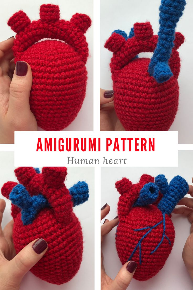 Craftaholics Anonymous® | How to Crochet a Heart | 1102x735